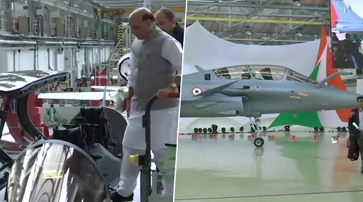 First Rafale Jet Handed Over to India; Defence Minister Rajnath Singh to Take Sortie in Dassault Aviation's Warplane, View Pics