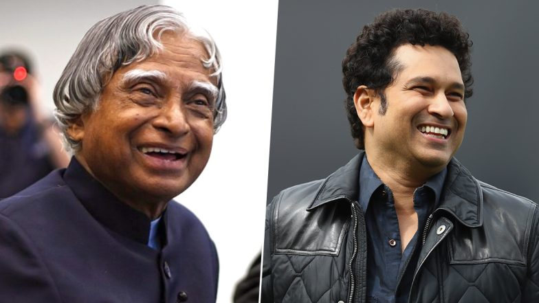 Sachin Tendulkar Wishes On APJ Abdul Kalam's 88th Birth Anniversary, Calls Former President 'An Inspiration for Our Future Generations'