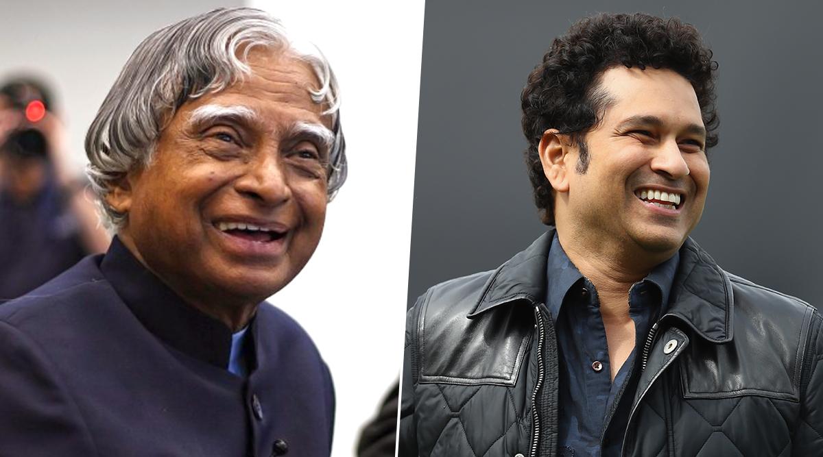 Sachin Tendulkar Wishes On APJ Abdul Kalam's 88th Birth Anniversary, Calls Former President 'An Inspiration for Our Future Generations'