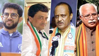 Aaditya Thackeray, Ashok Chavan, Ajit Pawar, Manohar Lal Khattar, Randeep Singh Surjewala Among Leading Candidates in Maharashtra And Haryana Assembly Elections 2019