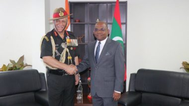 Army Chief Bipin Rawat Meet Maldives Foreign Minister Abdulla Shahid, Highlights Threats in Indian Ocean Region