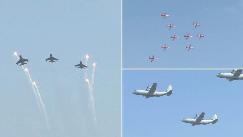 Air Force Day 2019: Wing Commander Abhinandan Varthaman, Balakot Air Strike Heroes Participate in Flypast - Watch Video