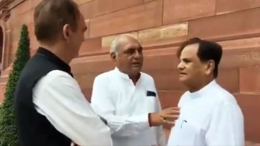 Viral Video Showing Ahmed Patel, Bhupinder Singh Hooda in Heated Conversation Leaves Congress Embarrassed Ahead of Haryana Assembly Elections 2019
