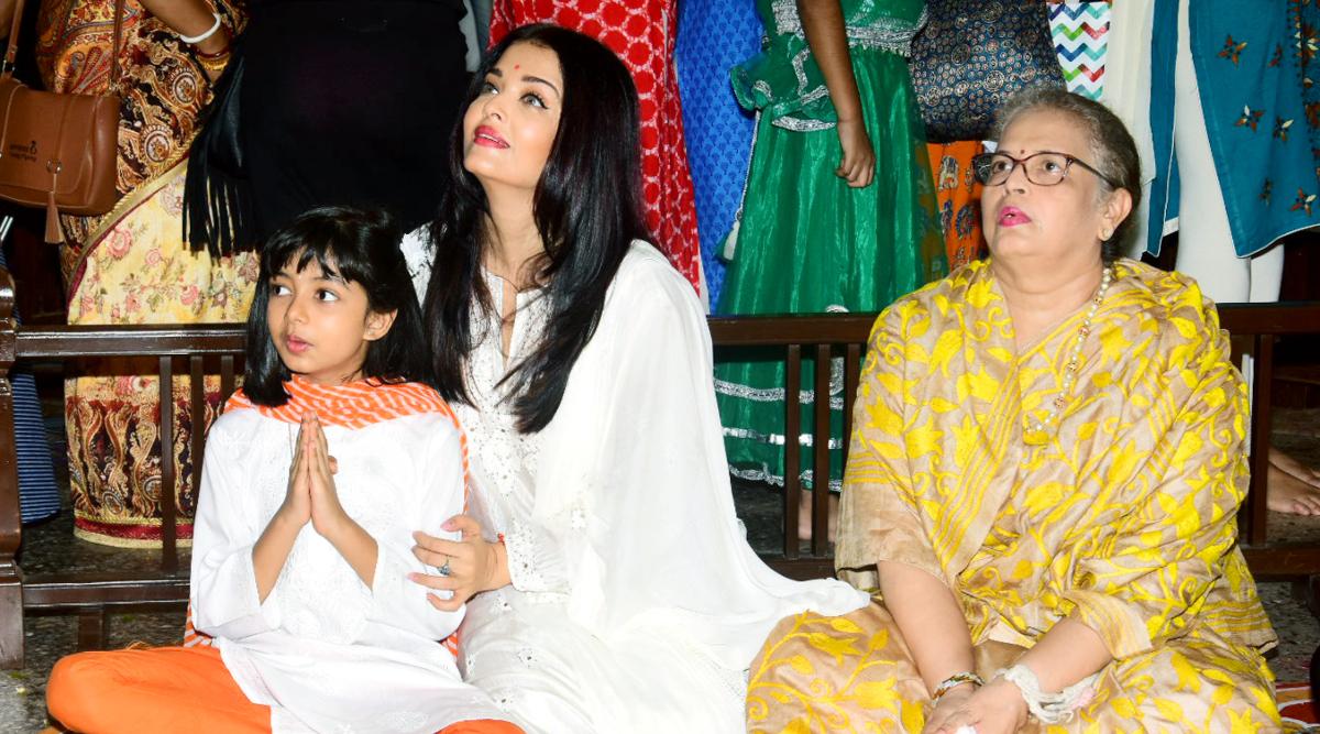 Aishwarya Rai Bachchan and daughter Aaradhya Bachchan. (Photo Credits; Yogen Shah)