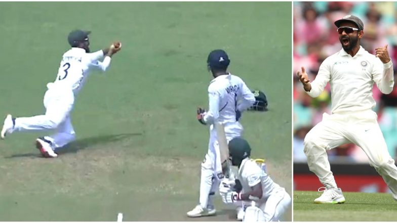 Ajinkya Rahane Takes Stunning Catch at First Slip to Dismiss Temba Bavuma on Day 4 of 2nd India vs South Africa Test Match (Watch Video)