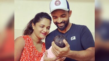 Ajinkya Rahane and Radhika Dhopavkar's First Photo With Their New-Born Baby Girl Will Melt Your Heart, See Instagram Post