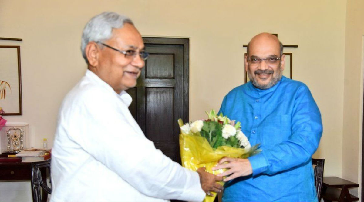 Relief For Nitish Kumar, Amit Shah Clears Air on Who Will Lead JDU-BJP Campaign in 2020 Bihar Assembly Elections