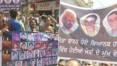 Amritsar Dussehra Train Accident: Families of Victims Hold Protest March, Say No Justice Even After a Year