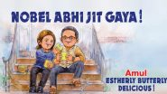 Amul Dedicates Topical Ad to Abhijit Banerjee And Wife Esther Duflo on Winning Nobel Prize in Economic Sciences