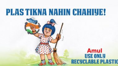 Amul Topical Ad Celebrates Swachh Bharat Diwas 2019 With Message Against Use of Single-Use Plastic