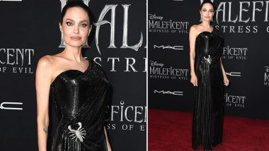 Yo or Hell No? Angelina Jolie in Atelier Versace at the Premiere of Maleficent: Mistress Of Evil