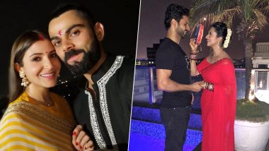 Throwback Karwa Chauth Photos: Anushka Sharma, Divyanka Tripathi, Shilpa Shetty & Other Beautiful Actresses Celebrating Karva Chauth Vrat With Their Husbands!