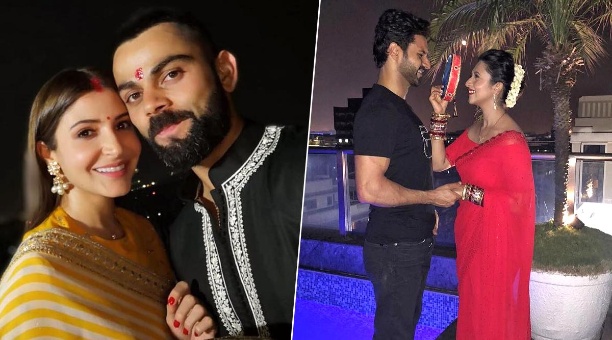 Throwback Karwa Chauth Photos: Anushka Sharma, Divyanka Tripathi, Shilpa Shetty & Other Beautiful Actresses Celebrating Karva Chauth Vrat With Their Husbands!