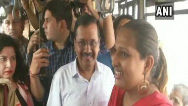 Arvind Kejriwal Boards Public Buses in New Delhi to Take Feedback on Delhi Free Bus Ride Scheme