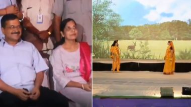 Arvind Kejriwal Attends Ramleela With Wife Sunita in Delhi's Jhilmil Colony, Says 'People Must Take Their Kids to Watch Ramleela As It's Our Tradition'