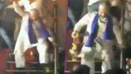 Asaduddin Owaisi Dances to the Tune of 'Miya Bhai' During 2019 Maharashtra Assembly Election Campaign, Watch Viral Video