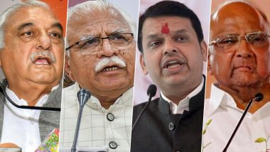 Assembly Elections 2019 Results: BJP Single Largest Party in Maharashtra, Congress Gains in Haryana as State Heads Towards Hung House