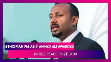 Nobel Peace Prize 2019 Awarded To Ethiopian Prime Minister Abiy Ahmed Ali For Eritrea Peace Deal