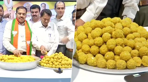 Maharashtra Assembly Polls 2019: BJP Members Begin Making Sweets Hours Ahead of Counting of Votes in Mumbai