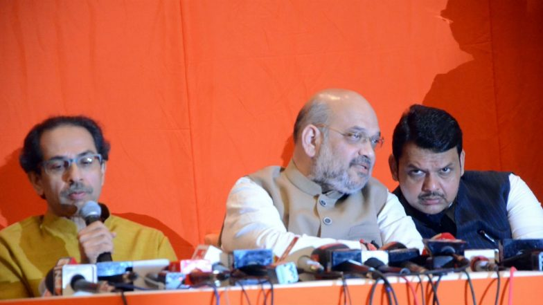 Amit Shah Breaks Silence on Maharashtra Political Stalemate, Says 'Shiv Sena Did Not Oppose Devendra Fadnavis as CM During Assembly Elections'