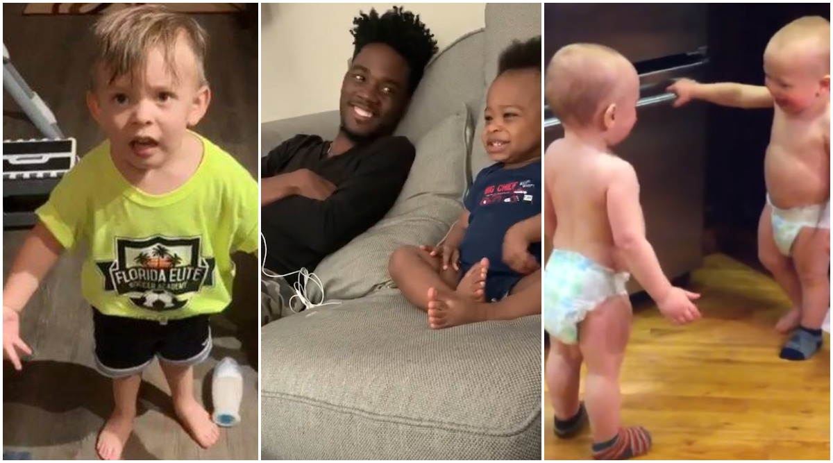 Baby's Cute Rant After Mom Forgets to Give Him Goodbye Kiss Goes Viral, Here's A Look At Other Funny Videos of Toddlers Talking Gibberish!