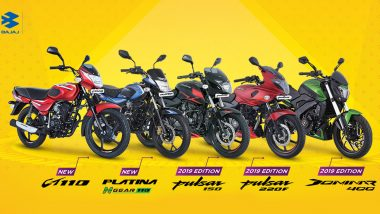 Diwali 2019 Discount Offers on Bajaj Bikes: Get Up to Rs 7200 Off on Dominar 400, Avenger, Pulsar 220F, Pulsar 150 & Platina 110