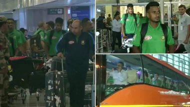 Mahmudullah-Led Bangladesh Cricket Team Arrives in Delhi Ahead of IND vs BAN 1st T20I 2019 Match (View Pics)