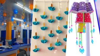 Diwali 2019 Office Bay Decoration Ideas: Simple And Easy Ways to Brighten Your Workplace This Festive Season (Watch Videos)