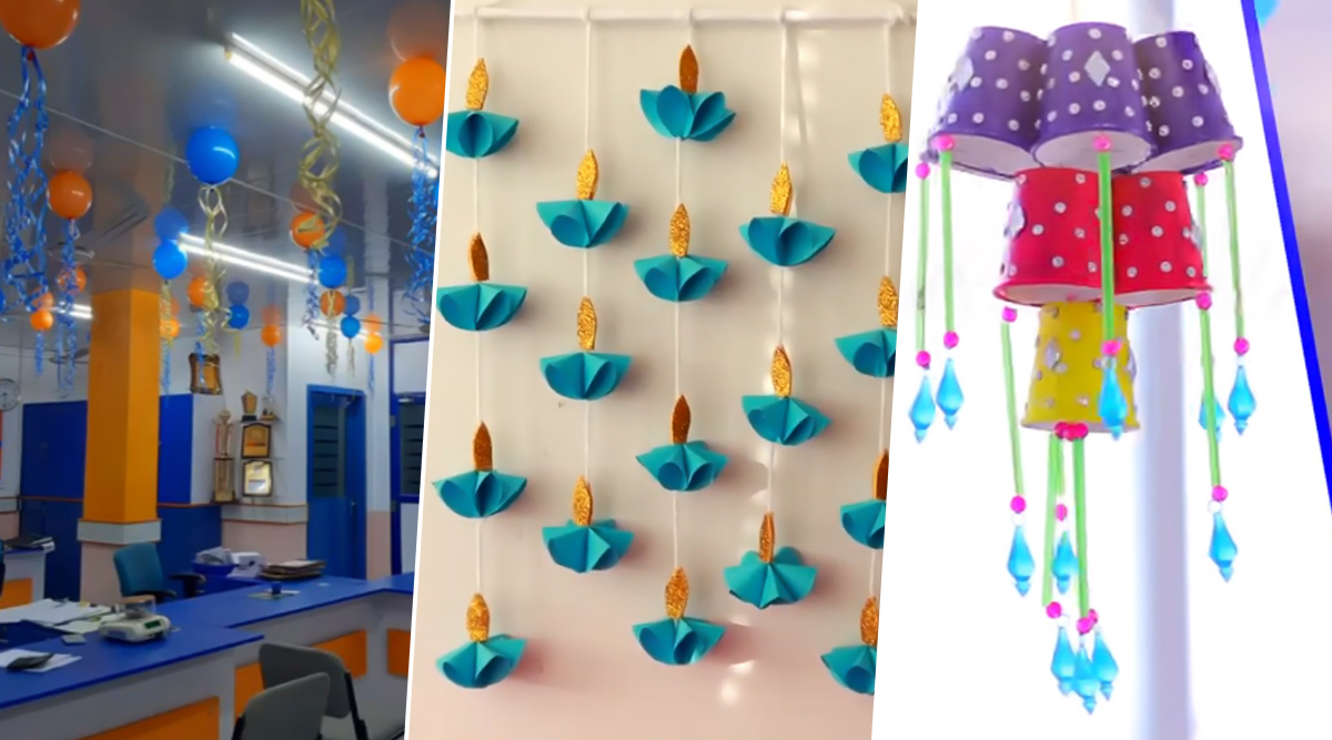 Diwali 2019 Office Bay Decoration Ideas: Simple And Easy ...
