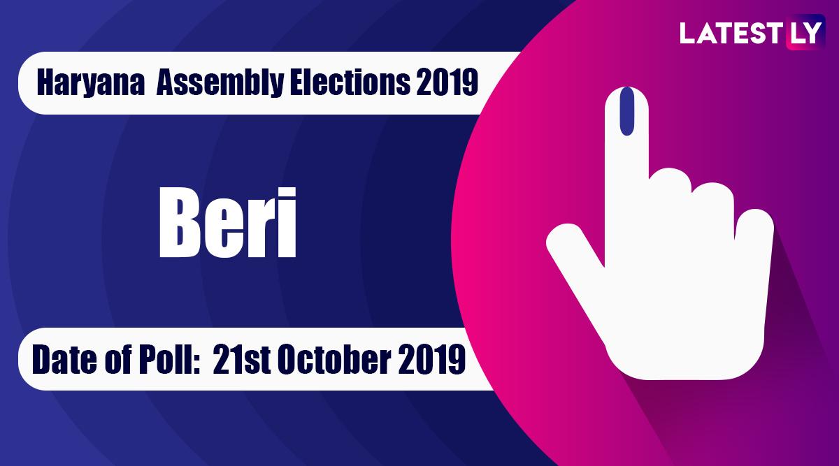 Beri Vidhan Sabha Constituency Election Result 2019 in Haryana: Dr Raghuvir Kadian of Congress Wins MLA Seat in Assembly Polls