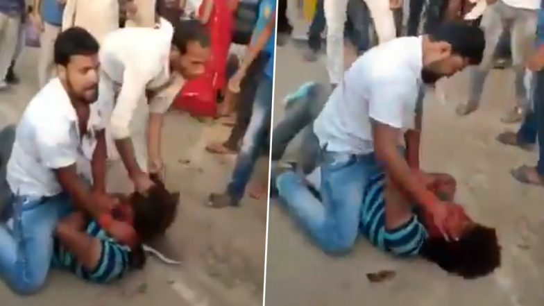 Bihar Mob Violence: Ward Councillor's Son in Bhabhua Thrashed Before Police Amid 'Jai Shri Ram' Chants