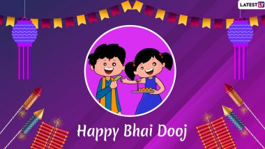 Bhai Dooj 2019 Date During Diwali Festivities: Significance, Puja Vidhi, Shubh Muhurat And All Other FAQs Answered on The Day to Celebrate The Sister-Brother Bond