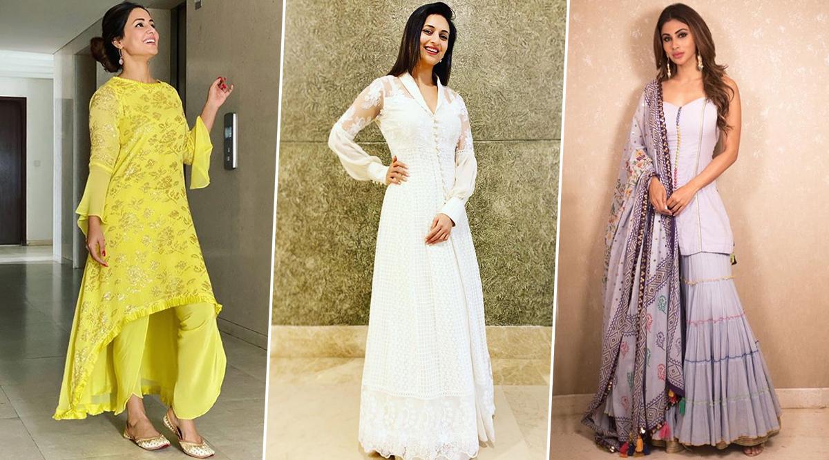 Bhai Dooj 2019 Outfit Ideas: Hina Khan, Mouni Roy, Divyanka Tripathi and Others Will Help You With Fashion for Bhaubeej