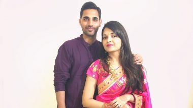 Bhuvneshwar Kumar and Wife Nupur Nagar Celebrate Karwa Chauth 2019, Post Picture in Traditional Attire