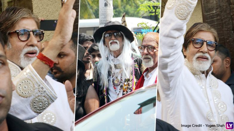 Amitabh Bachchan Greets A Legion of Fans Outside Jalsa on His Birthday (View Pics)