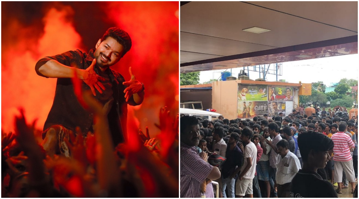 Bigil Advance Booking: Video of Crazy Fans Thronging Chennai Theatre to Book Tickets of Thalapathy Vijay Starrer Goes Viral