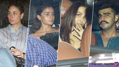 Kareena Kapoor Khan, Alia Bhatt, Arjun Kapoor-Malaika Arora and Gang Spotted at Karan Johar's Residence! (View Pics)