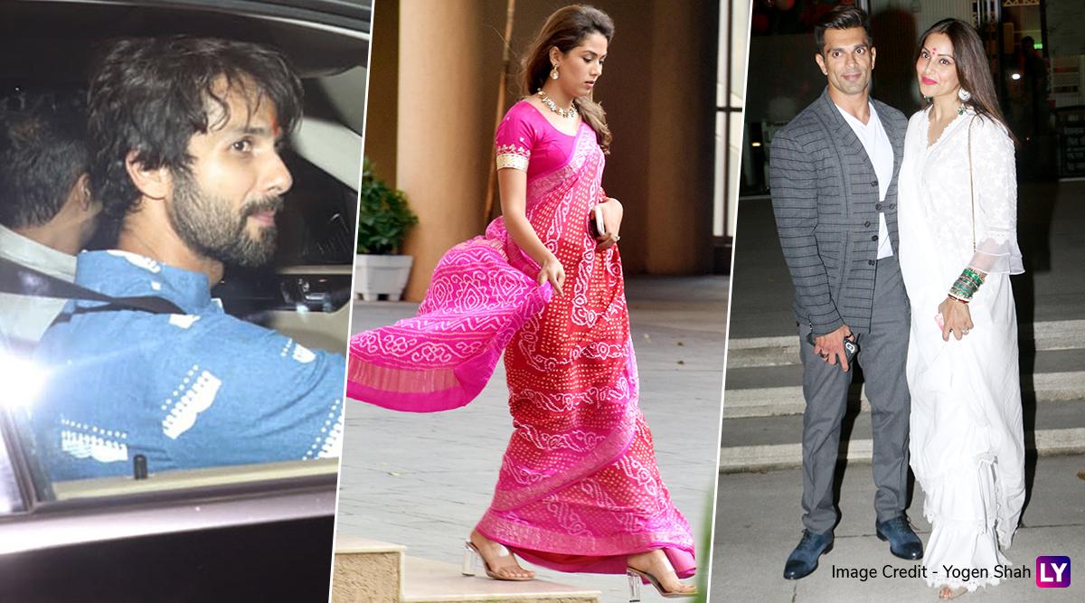 Shahid Kapoor-Mira Rajput, Bipasha Basu-Karan Singh Grover Get Snapped Decked Up All Traditional For Karwa Chauth 2019 (View Pics)
