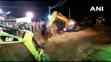 Tamil Nadu: NDRF, SDRF Teams Takeover Rescue Operation to Save 2-Year-Old Sujith Wilson Trapped in Borewell