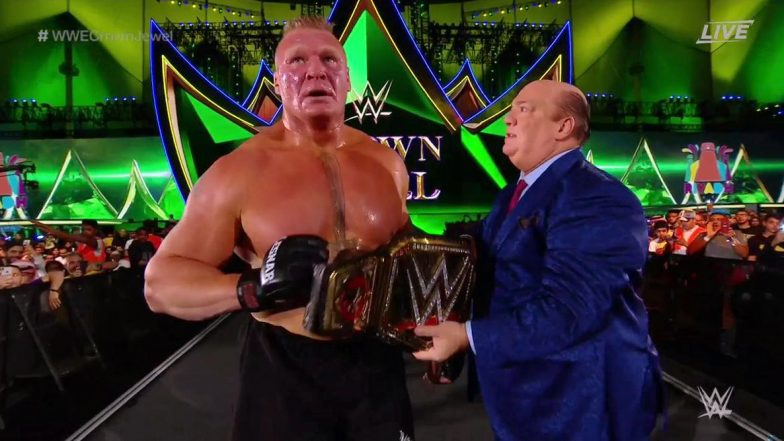 WWE Crown Jewel 2019: Brock Lesnar Beat Cain Velasquez to Retain Title, Rey Mysterio Rescues MMA Star From Beast Incarnate's Assault