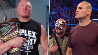 WWE SmackDown Oct 25, 2019 Results and Highlights: Brock Lesnar Attacks Cain Velasquez; Team Hogan Collides With Team Flair Ahead of Crown Jewel (Watch Videos)