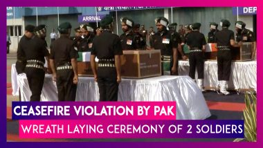 Ceasefire Violation By Pakistan: Wreath Laying Ceremony Of Soldiers Killed Held At The Palam Airport
