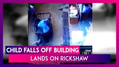 Shocking! Child Falls Off Building, Lands On Passing Rickshaw In Madhya Pradesh's Tikamgarh