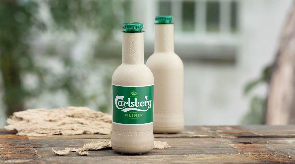 Carlsberg to Make Paper Beer Bottles! Unveils Pic of World's First Such Bottle to Reduce Carbon Emissions