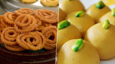 Diwali 2019 Recipes: How to Make Chakli, Besan Ladoo for Faral This Festive Season at Home (Watch Videos)