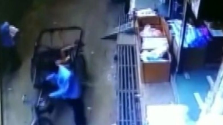Madhya Pradesh Miracle: Child Falls From Second Floor Balcony in Tikamgarh, Saved by Passing Rickshaw; Watch Video