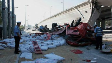 China Bridge Collapses, Three Dead, Two Injured (Watch Video)