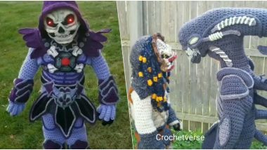 Halloween 2019 Costume Ideas: Mom's Crocheted Alien-Themed Dresses Impress Netizens (View Viral Pics and Videos)