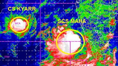 Cyclone MAHA Update: Heavy Rain Alert in Lakshadweep, Kerala, Karnataka and Tamil Nadu as Cyclonic Storm Intensifies Over Arabian Sea