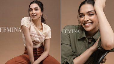 Deepika Padukone Flaunts Her Million Dollar Smile and Rocks Casuals Like a Pro in Femina's Latest Photoshoot (View Pics)